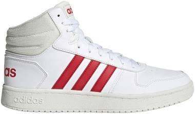 Adidas Hoops 2.0 Mid - White/Vivid Red/Cloud White (GZ7927)