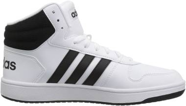 Adidas Hoops 2.0 Mid - White/Black/Black (BB7208)