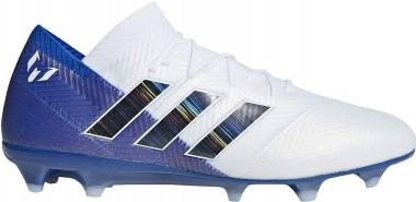 Adidas Nemeziz Messi 18.1 Firm Ground - White/Blk/Blue
