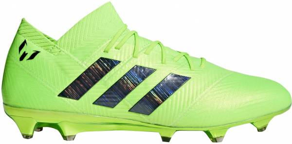 Adidas Nemeziz Messi 18.1 Firm Ground Solar Green Core Black Solar Green e1d8c85b7