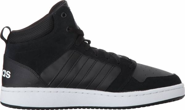 Adidas Cloudfoam Super Hoops Mid - Black Black Crystal White