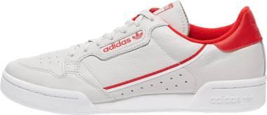 Adidas Continental 80 - Grey One F17 Scarlet Ftwr White