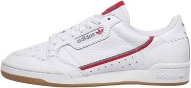 Adidas Continental 80 - Cloud White Grey Three Scarlet (FV0356)