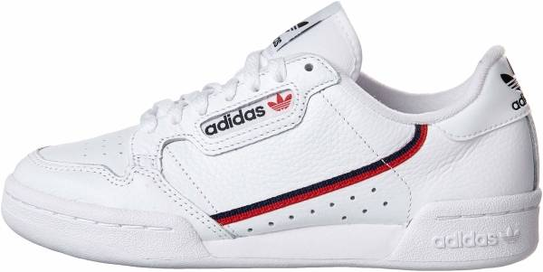 wholesale dealer 3eade fc915 Adidas Continental 80 White Scarlet Collegiate Navy