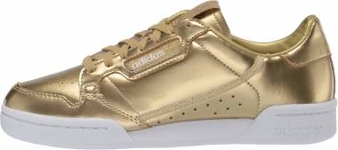Adidas Continental 80 - Gold Metallic Matte Gold Crystal White