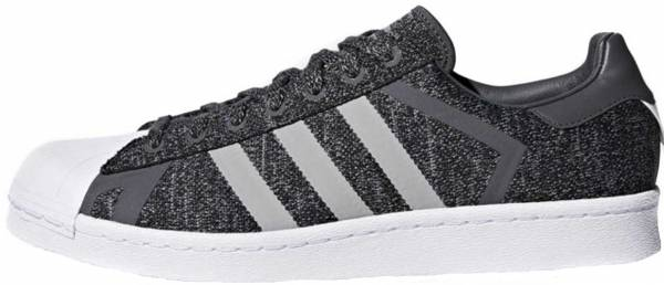 adidas superstar white with grey stripes