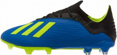 Adidas X 18.2 Firm Ground - Football Blue/Solar Yellow/Black