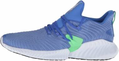 online store ff557 7bee1 Adidas AlphaBounce Instinct Hi Res Blue-Shock Lime Men