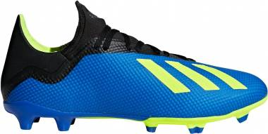 ea31dbbc1c9 Adidas X 18.3 Firm Ground Football Blue Solar Yellow Core Black Men