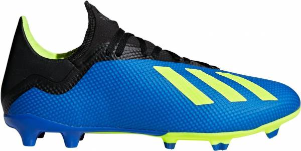 new arrivals e2356 91b43 Adidas X 18.3 Firm Ground Football Blue Solar Yellow Black