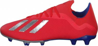 Adidas X 18.3 Firm Ground - Active Red/Silver Metallic/Bold Blue (BB9367)