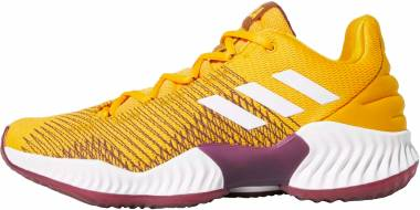 Adidas Pro Bounce 2018 Low Collegiate Gold/White/Maroon Men