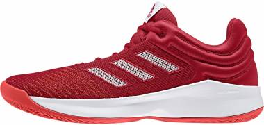 Adidas Pro Spark 2018 Low - Scarlet White Hi Res Red