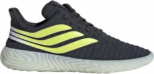 Adidas Sobakov - gris carbone/jaune fluo/bleu glace