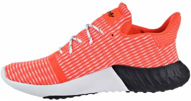 Adidas Tubular Dusk Primeknit - Solar Red/Cloud White/Black