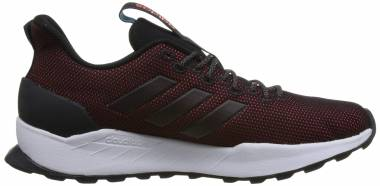 Adidas Questar Trail - Black Black Hi Res Red