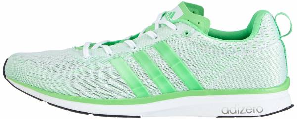 Adidas Adizero Feather 4 men gru00fcn (ftwr white/flash green s15/flash green s15)