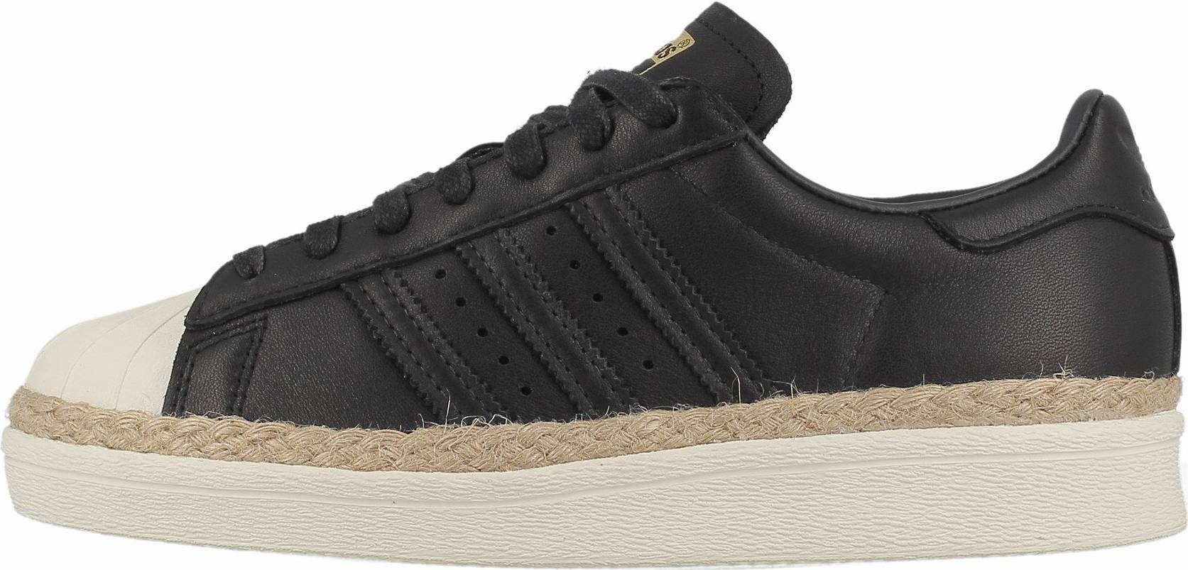 Adidas Superstar 80s New Bold sneakers in black (only $80)   RunRepeat