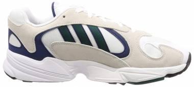 Adidas Yung-1 Footwear White / Noble Green-Dark Blue Men