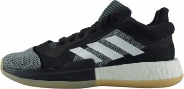 Adidas Marquee Boost Low - Black/White/Shock Cyan