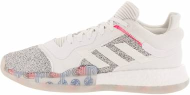 Adidas Marquee Boost Low - White/Off White/Shock Cyan (G27745)