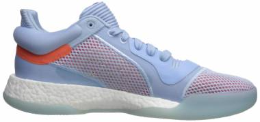 Adidas Marquee Boost Low - Glow Blue White Hi Res Coral