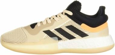 Adidas Marquee Boost Low - Linen Black Flash Orange