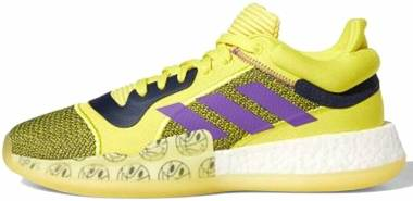 Adidas Marquee Boost Low - Shock Yellow Active Purple Collegiate Navy