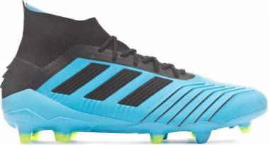 Adidas Predator 19.1 Firm Ground - Blue Bright Cyan Core Black Solar Yellow Bright Cyan Core Black Solar Yellow (F35606)