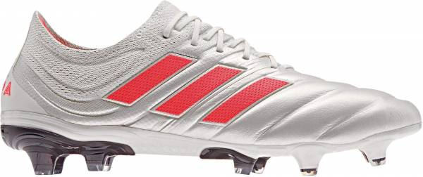 Adidas Copa 19.1 Firm Ground - Off White / Solar Red / Core Black (BB9185)