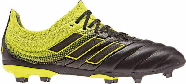 Adidas Copa 19.1 Firm Ground - Black/SolYellow