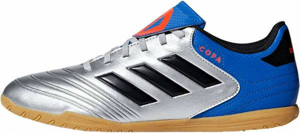 Adidas Copa Tango 18.4 Indoor - Silver Metallic/Black/Football Blue (DB2448)