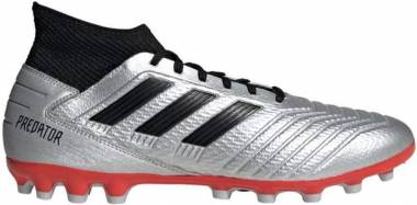 Adidas Predator 19.3 Artificial Grass - Silver Silver Met Core Black Hi Res Red S18 Silver Met Core Black Hi Res Red S18 (F99989)