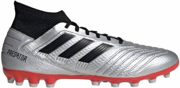 Adidas Predator 19.3 Artificial Grass - Silver Silver Met Core Black Hi Res Red S18 Silver Met Core Black Hi Res Red S18