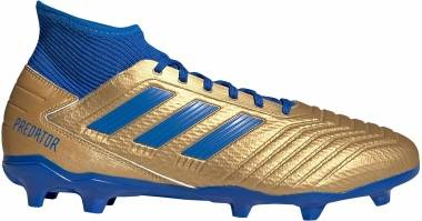 Adidas Predator 19.3 Firm Ground - Blau Goldfarben (F35596)