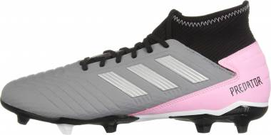 aec33983836 Adidas Predator 19.3 Firm Ground Grey Silver Metallic Black Men