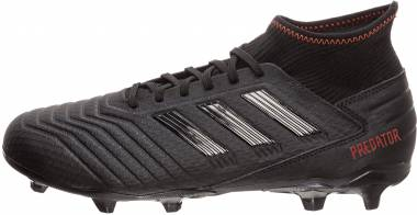Adidas Predator 19.3 Firm Ground - Core Black/Core Black/Active Red (D97942)
