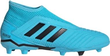 Adidas Predator 19.3 Laceless Firm Ground - Blå