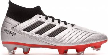 Adidas Predator 19.3 Soft Ground - Silver Silver Met Core Black Hi Res Red S18 Silver Met Core Black Hi Res Red S18 (F99992)