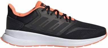 Adidas Runfalcon - Core Black / Core Black / Signal Coral (EG8609)