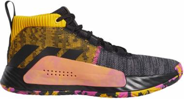 Adidas Dame 5 - Noir Jaune Or Rose Flash