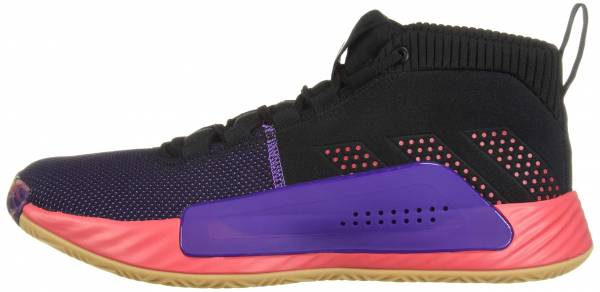 Adidas Dame 5 - Core Black / Shock Red / Active Purple