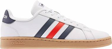 Adidas Grand Court - Ftwr White/Trace Blue F17/Active Red