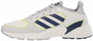 Adidas 90s Valasion - Cloud White Dark Blue Hi Res Yellow (EE9895)