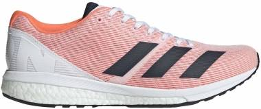 Adidas Adizero Boston 8 - Cloud White Collegiate Navy Solar Or