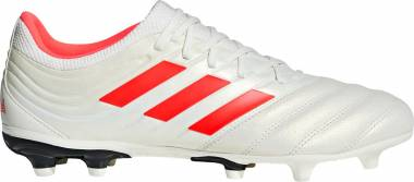 Adidas Copa 19.3 Firm Ground - White Off White Solar Red Core Black Off White Solar Red Core Black (BB9187)