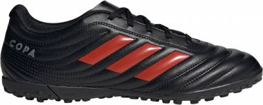 Adidas Copa 19.4 Turf - Black/Hi-res Red/Silver Metallic