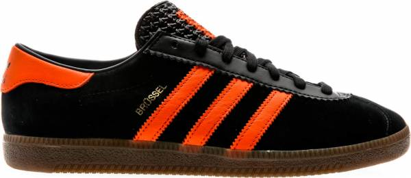Adidas Brussels Core Black-orange-gold Metallic