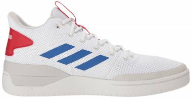 Adidas BBall80s - White/Blue/Scarlet (B44835)