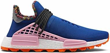 Adidas Pharrell Williams Solar Hu NMD - Blue, Light Pink, Orange